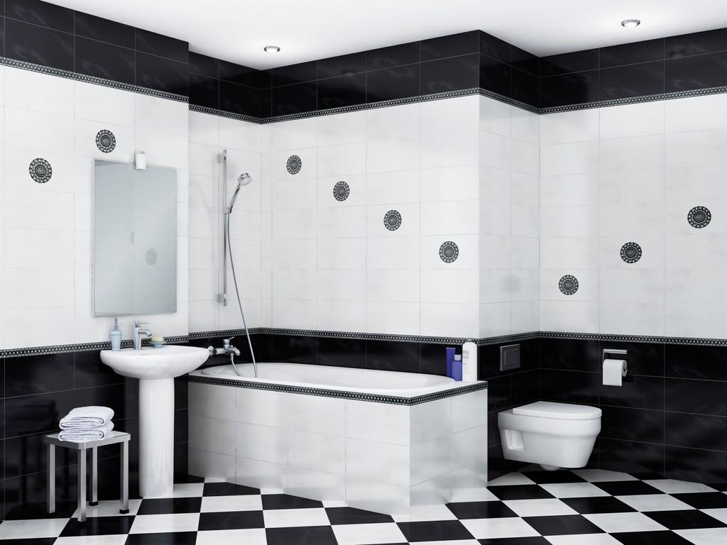 расположение плитки в ванной фото
