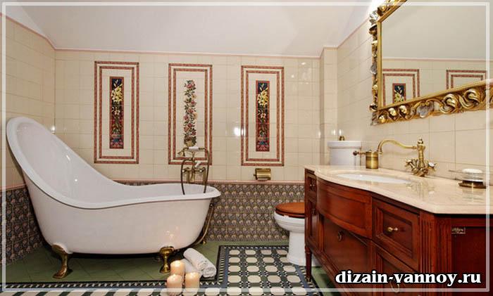 дизайн ванной в английском стиле