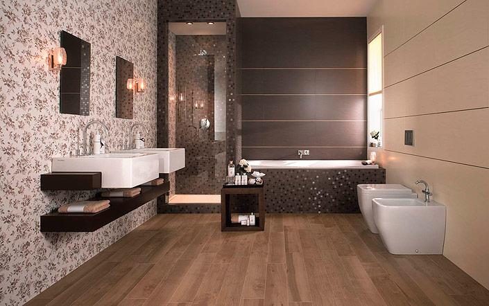 плитка под обои в ванной комнате