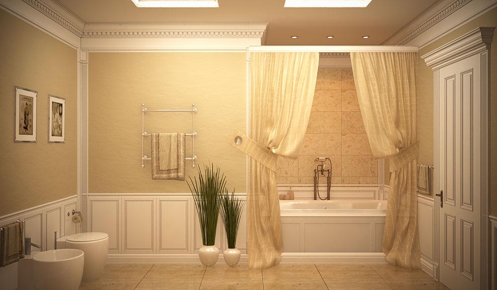 Классический дизайн ванной комнаты фото