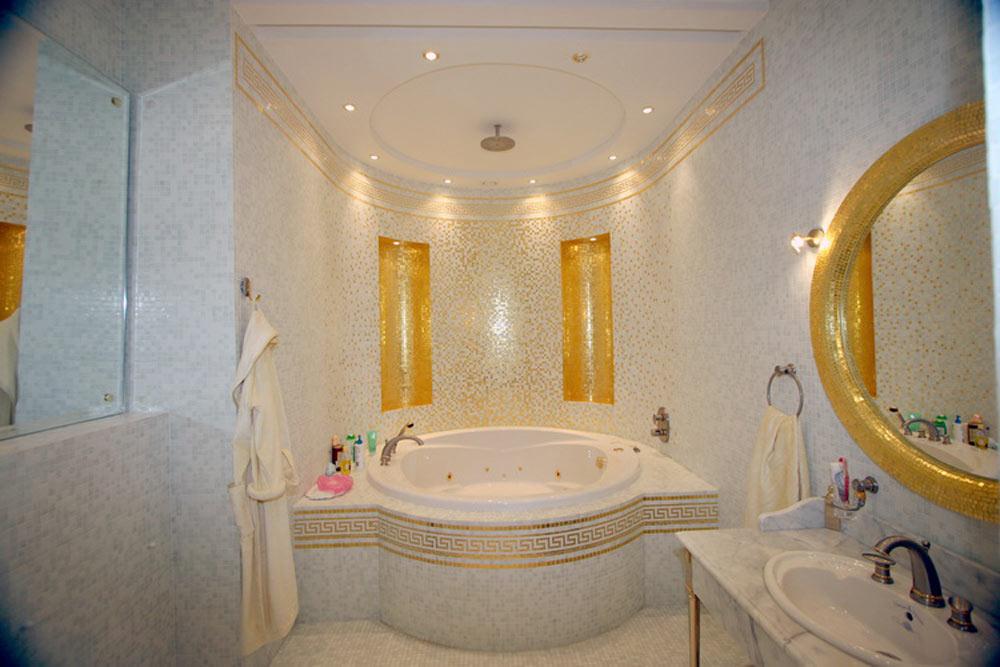 классическая плитка в ванную
