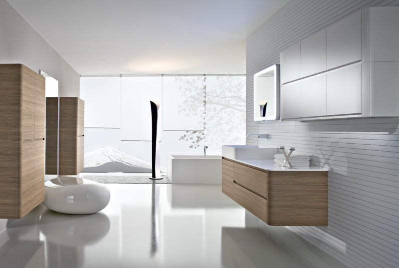 ванна в стиле хай-тек