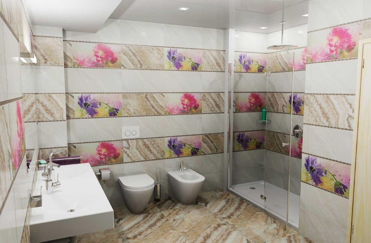 дизайнерская плитка для ванной