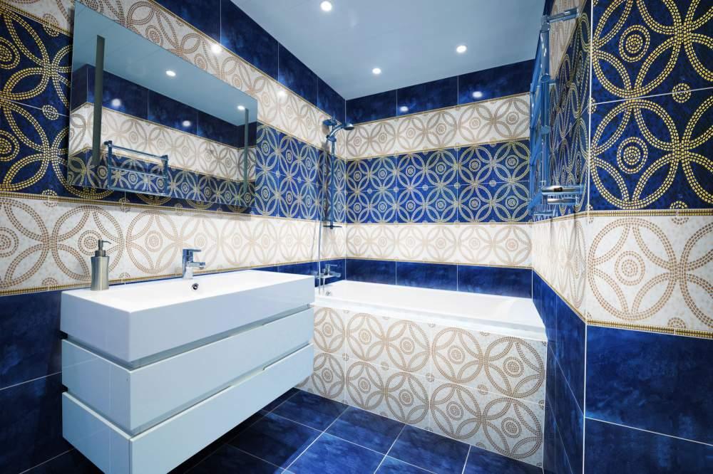 красивый кафель в ванной