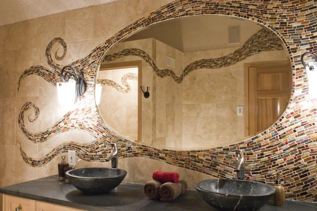 комбинация плитки в ванной фото