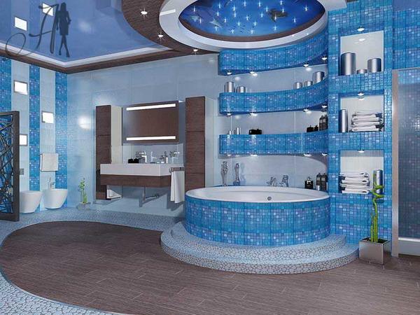 комбинирование плитки в ванной фото