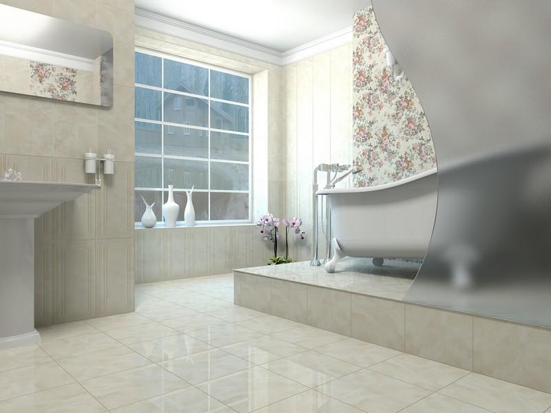 варианты выкладки плитки в ванной