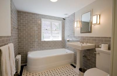 плитка под кирпич в ванную