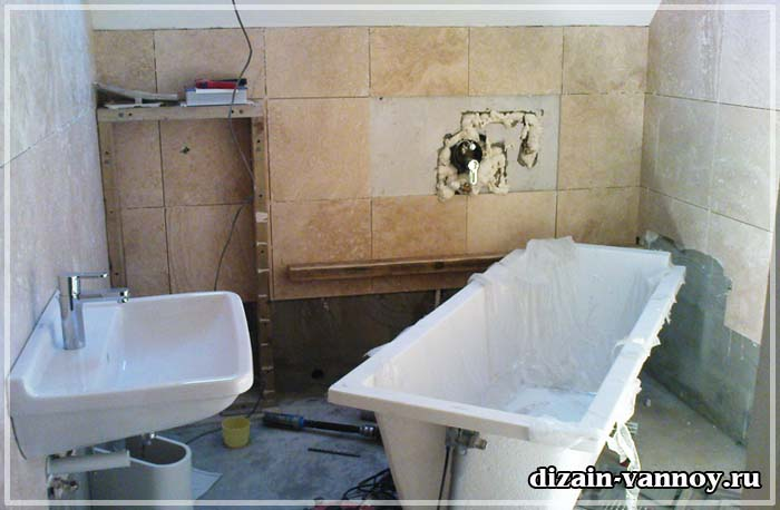 порядок ремонта в ванной