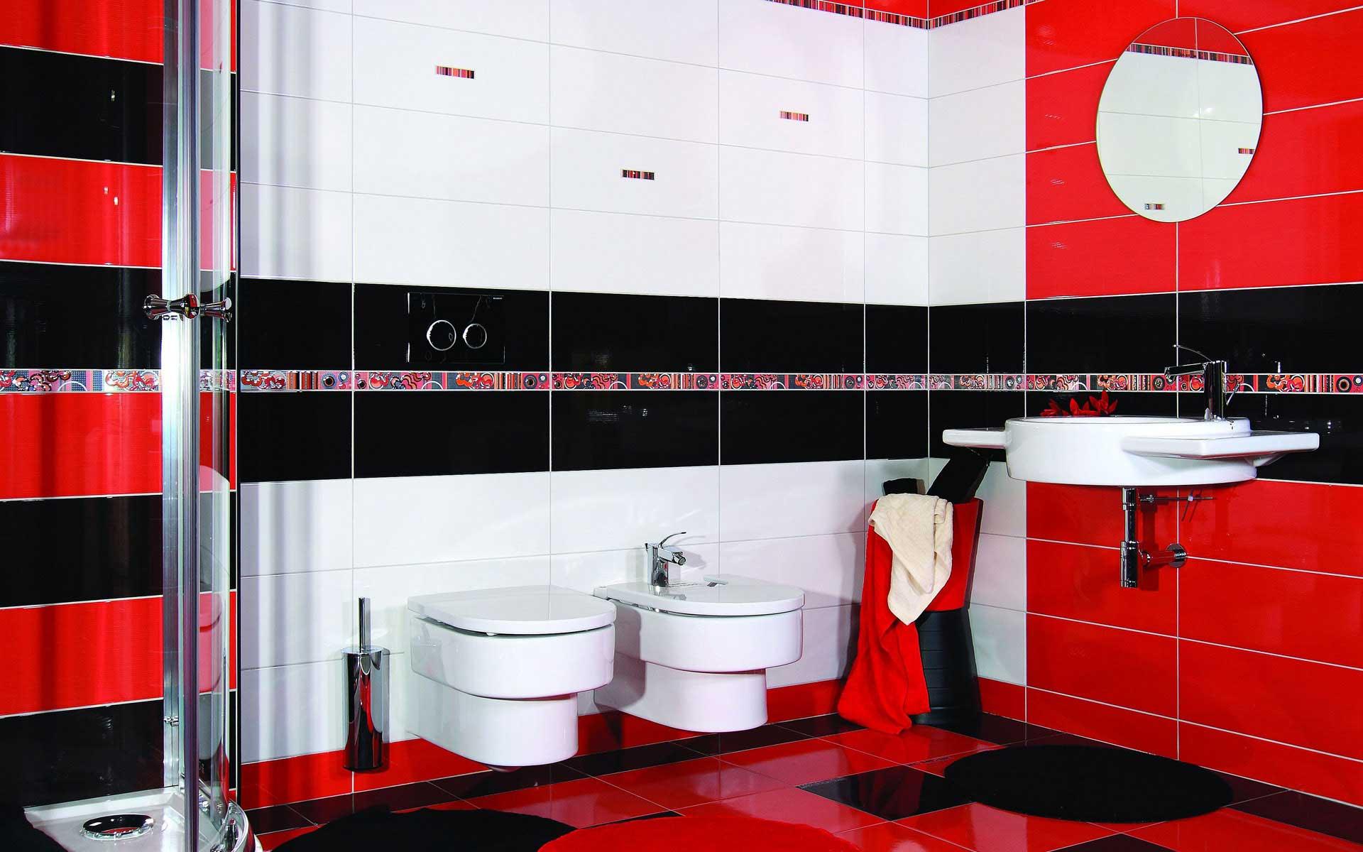 оформление ванной комнаты плиткой фото