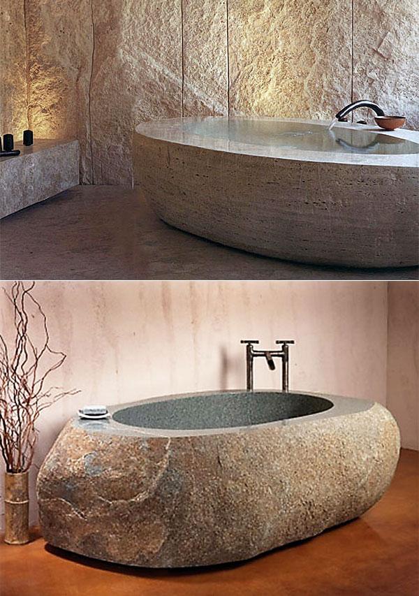 искусственный камень в ванной