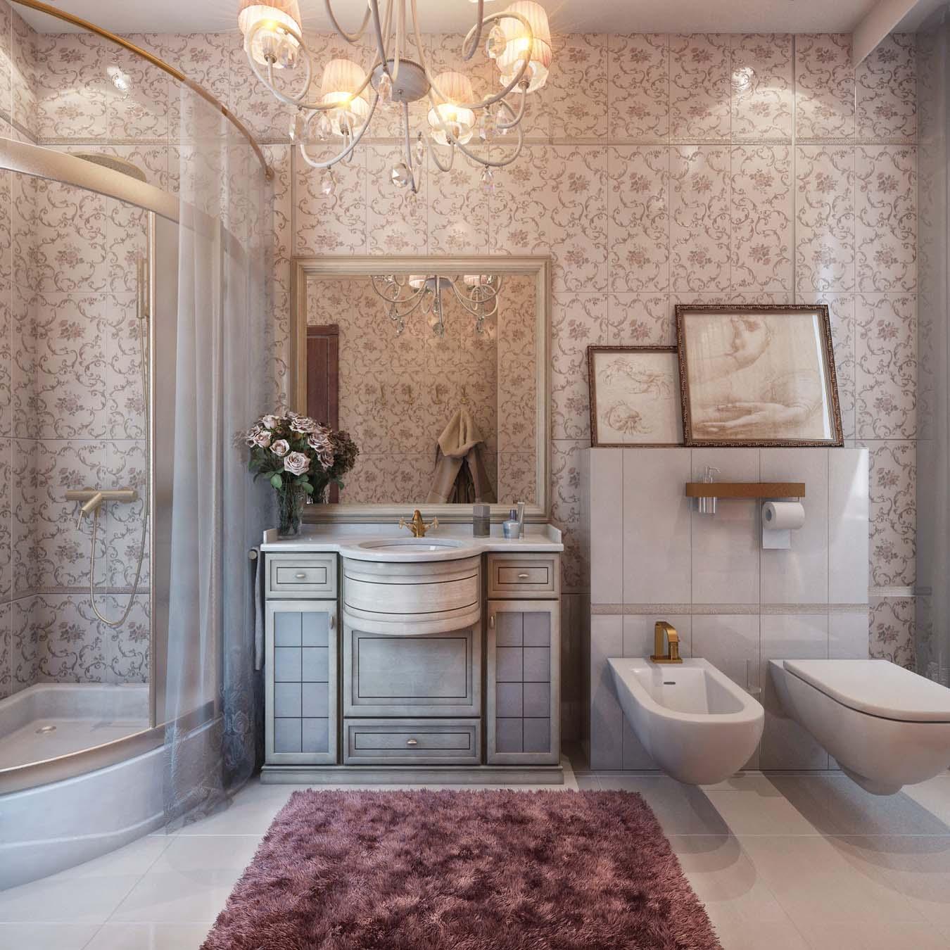 плитка с бабочками в ванную