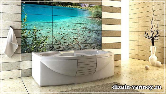 3d плитка для ванной