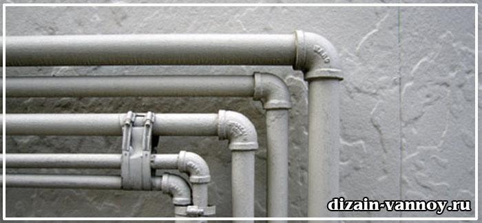как задекорировать трубы в ванной