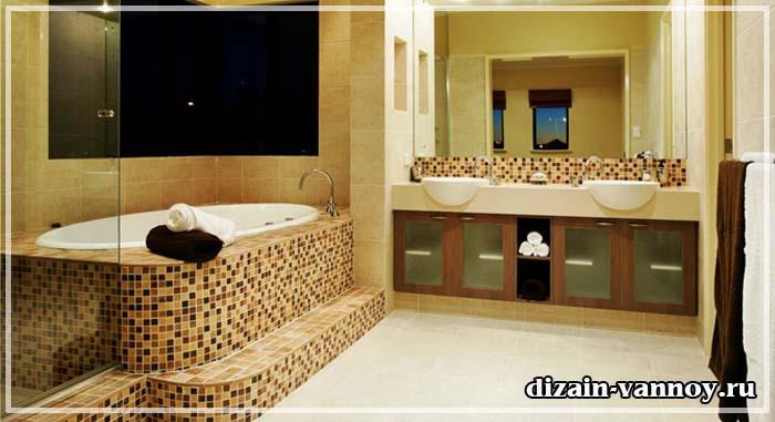 дизайн ванной комнаты мозаика фото