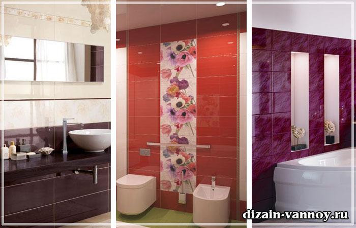 глянцевая плитка в ванную
