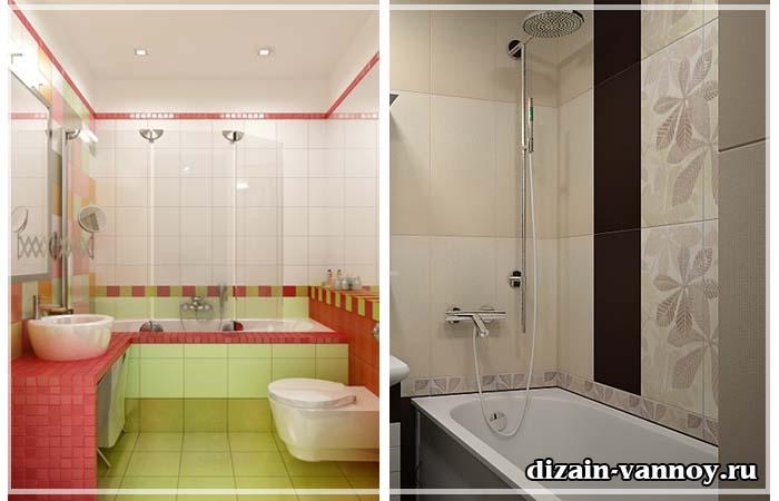 Плитка в оформлении маленькой ванной