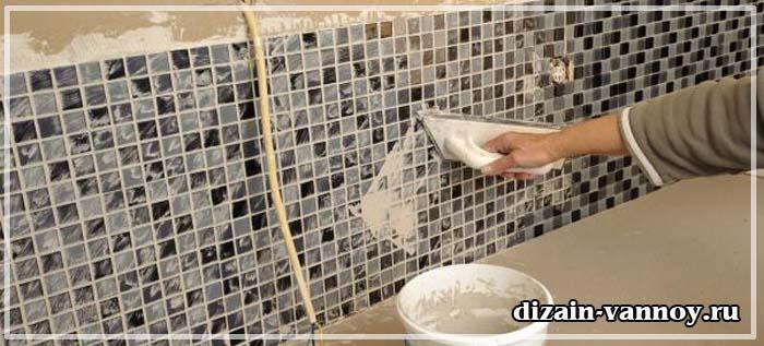 отделка ванной мозаикой фото