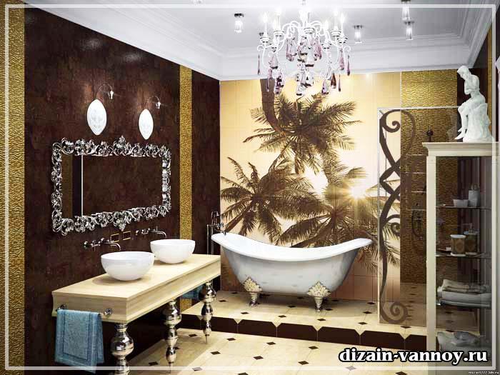 плитка для ванной комнаты панно