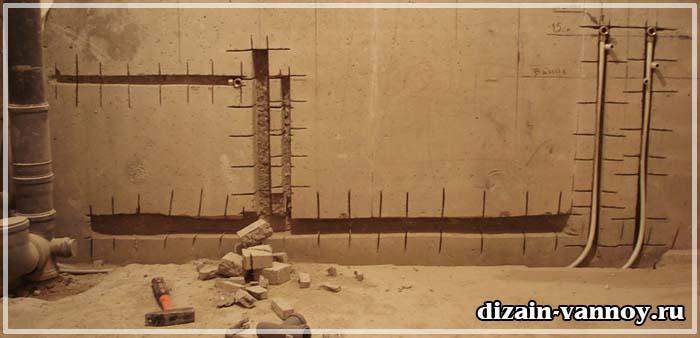 монтаж водопровода в ванной