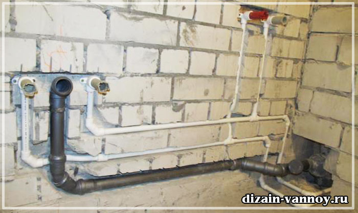 прокладка труб в ванной комнате