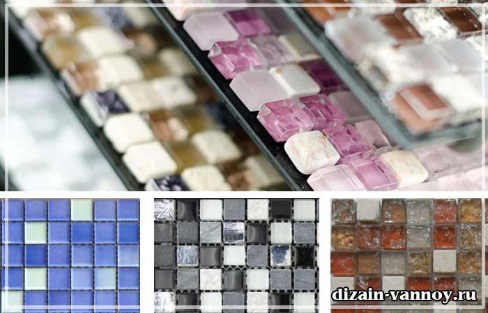 белая мозаика в ванной