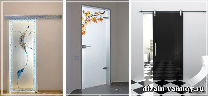 двери стеклянные для ванной