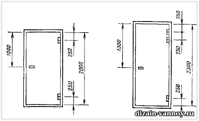 дверь 1900х600 для ванной
