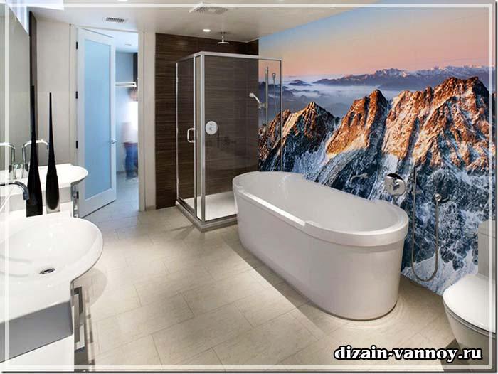 Фотообои в ванной