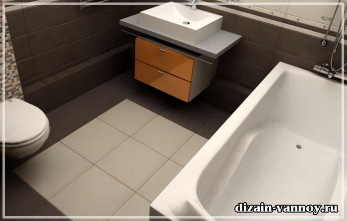 как выровнять пол в ванной
