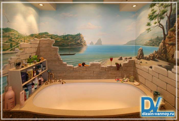 оригинальный дизайн ванной комнаты фото