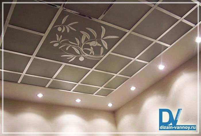навесные потолки для ванной комнаты