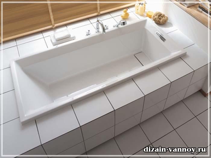 отделка под ванной