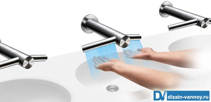 смеситель для ванной автоматический