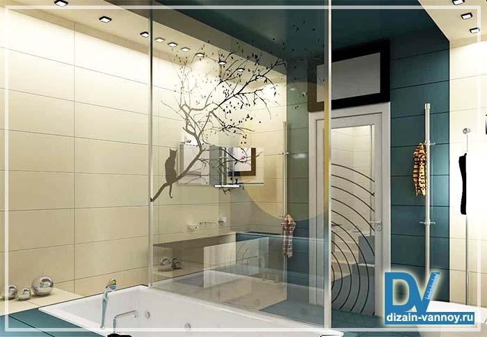 перегородка в ванную из стекла