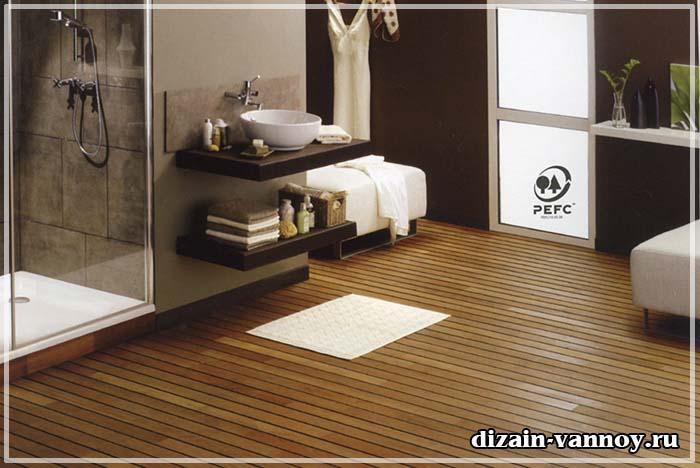 стоимость тиковый пол в ванной