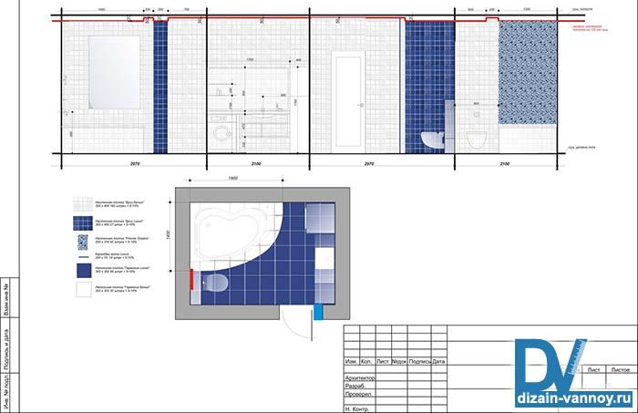 Дизайны и проекты ванных комнат