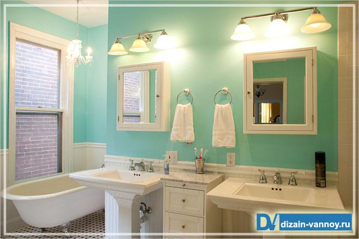 Краска для стен в ванной комнате