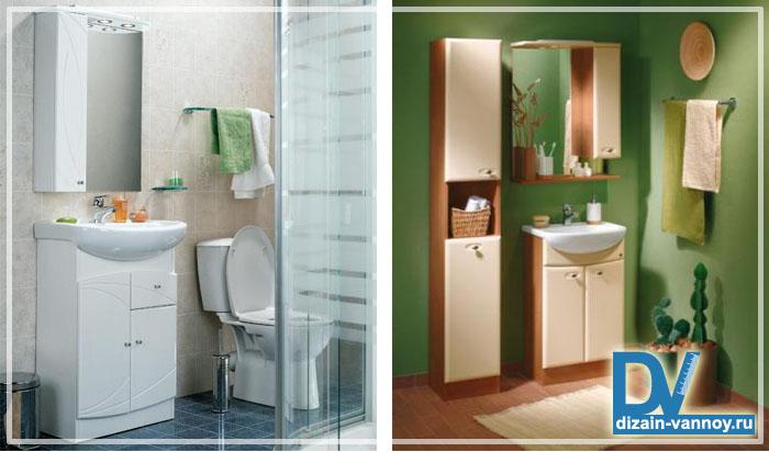 мебель для ванной комнаты узкая
