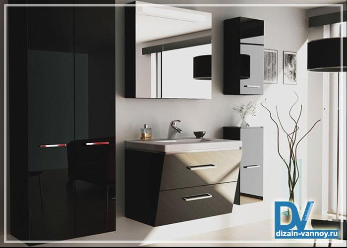 асимметричная мебель для ванной