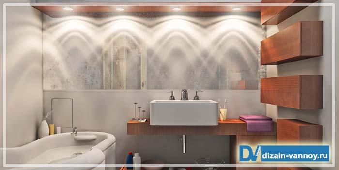 дизайн ванной комнаты недорого фото