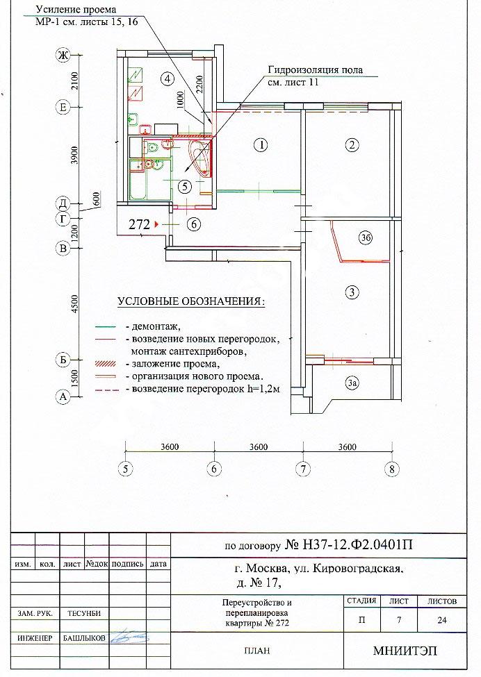 план перепланировки в панельном доме