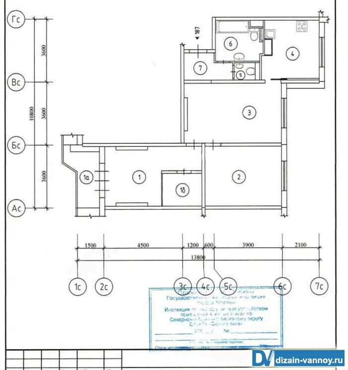 планировка санузла в панельном здании