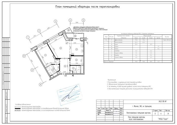 схема планировки квартиры в
