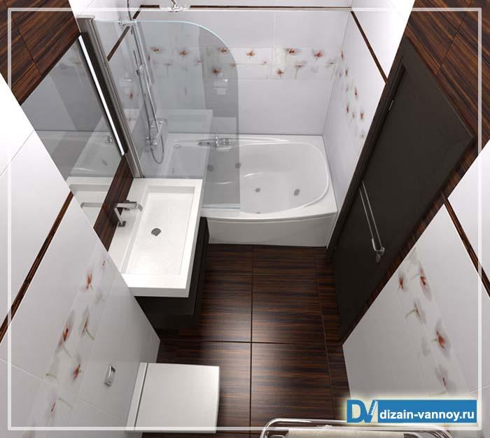 компоновка ванной комнаты