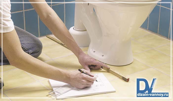 Планировка ванной комнаты и туалета