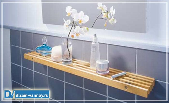 Полки для ванной комнаты своими руками фото