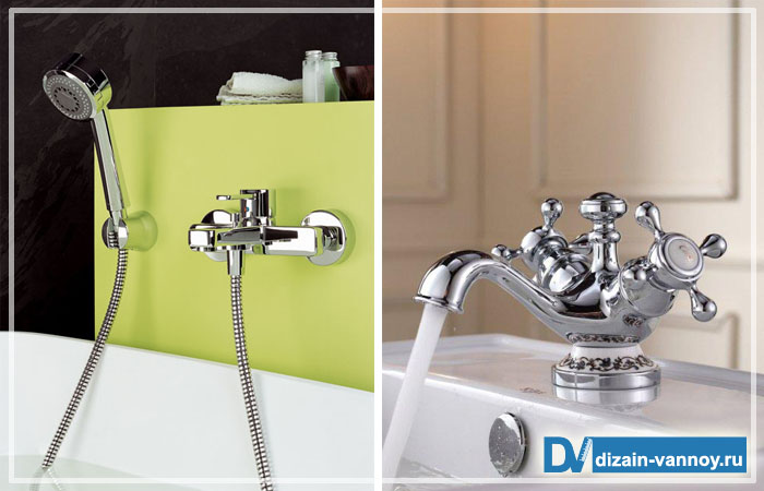 как установить смеситель в ванной