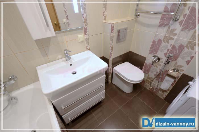 Фото интерьера ванной совмещенный с туалетом фото