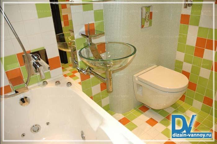 ванная в брежневке фото